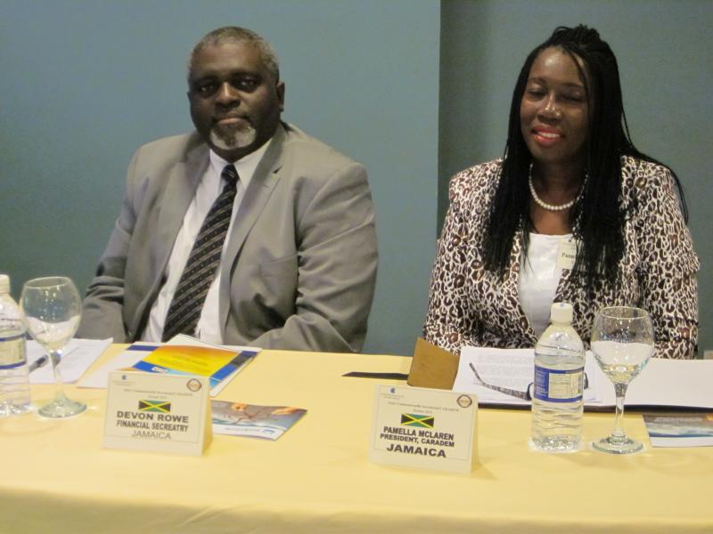 Mr. Devon. Rowe (Fin. Secretary) and Mrs. Pamella McLaren - Pres. CARADEM